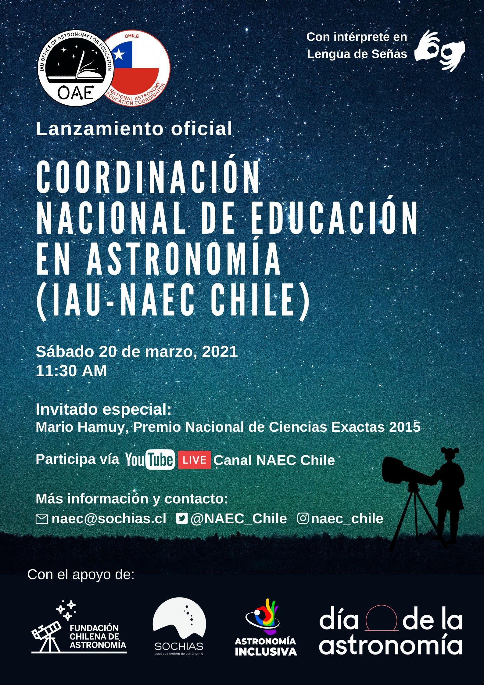 Afiche Lanzamiento NAEC